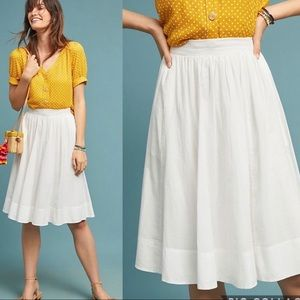 Maeve by Anthropologie Textured Midi Skirt